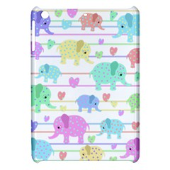 Elephant pastel pattern Apple iPad Mini Hardshell Case