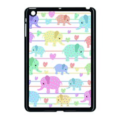 Elephant pastel pattern Apple iPad Mini Case (Black)