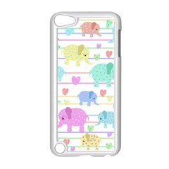 Elephant pastel pattern Apple iPod Touch 5 Case (White)