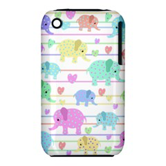 Elephant pastel pattern iPhone 3S/3GS