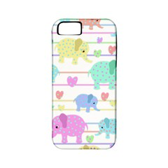 Elephant pastel pattern Apple iPhone 5 Classic Hardshell Case (PC+Silicone)