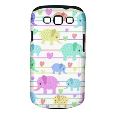 Elephant pastel pattern Samsung Galaxy S III Classic Hardshell Case (PC+Silicone)