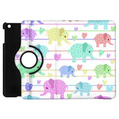 Elephant pastel pattern Apple iPad Mini Flip 360 Case