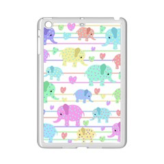 Elephant pastel pattern iPad Mini 2 Enamel Coated Cases
