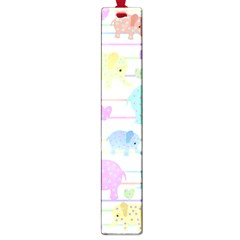 Elephant pastel pattern Large Book Marks