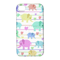 Elephant pastel pattern Apple iPhone 4/4S Hardshell Case with Stand