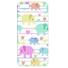 Elephant pastel pattern Apple iPhone 5 Hardshell Case with Stand