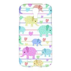 Elephant pastel pattern Samsung Galaxy S4 I9500/I9505 Hardshell Case