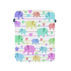 Elephant pastel pattern Apple iPad 2/3/4 Protective Soft Cases