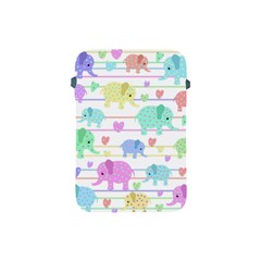 Elephant pastel pattern Apple iPad Mini Protective Soft Cases