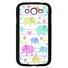 Elephant pastel pattern Samsung Galaxy Grand DUOS I9082 Case (Black)