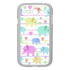 Elephant pastel pattern Samsung Galaxy Grand DUOS I9082 Case (White)