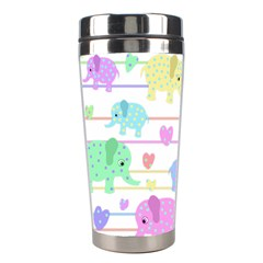 Elephant pastel pattern Stainless Steel Travel Tumblers
