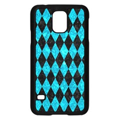 Diamond1 Black Marble & Turquoise Marble Samsung Galaxy S5 Case (black)
