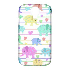 Elephant pastel pattern Samsung Galaxy S4 Classic Hardshell Case (PC+Silicone)