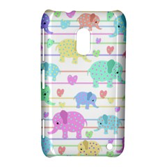 Elephant pastel pattern Nokia Lumia 620