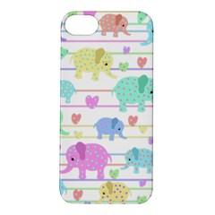Elephant pastel pattern Apple iPhone 5S/ SE Hardshell Case