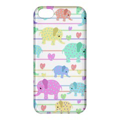 Elephant pastel pattern Apple iPhone 5C Hardshell Case