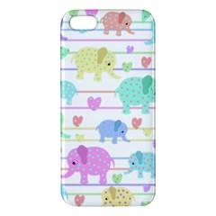 Elephant pastel pattern iPhone 5S/ SE Premium Hardshell Case