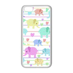 Elephant pastel pattern Apple iPhone 5C Seamless Case (White)