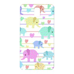 Elephant pastel pattern Samsung Galaxy Note 3 N9005 Hardshell Back Case