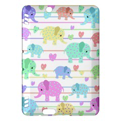 Elephant pastel pattern Kindle Fire HDX Hardshell Case