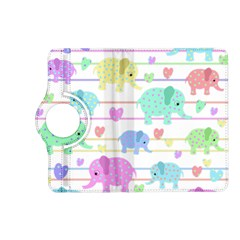 Elephant pastel pattern Kindle Fire HD (2013) Flip 360 Case