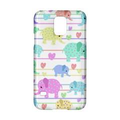 Elephant pastel pattern Samsung Galaxy S5 Hardshell Case