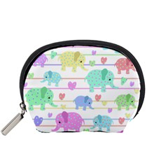 Elephant pastel pattern Accessory Pouches (Small)
