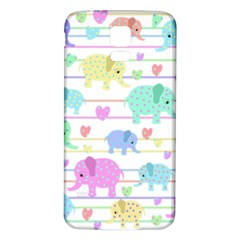 Elephant pastel pattern Samsung Galaxy S5 Back Case (White)