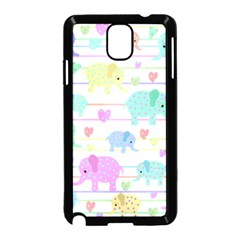 Elephant pastel pattern Samsung Galaxy Note 3 Neo Hardshell Case (Black)