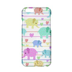 Elephant pastel pattern Apple iPhone 6/6S Hardshell Case