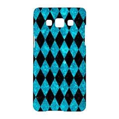 Diamond1 Black Marble & Turquoise Marble Samsung Galaxy A5 Hardshell Case
