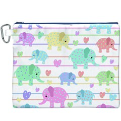 Elephant pastel pattern Canvas Cosmetic Bag (XXXL)