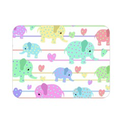 Elephant Pastel Pattern Double Sided Flano Blanket (mini)