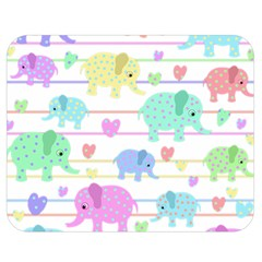 Elephant pastel pattern Double Sided Flano Blanket (Medium)