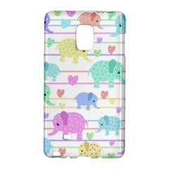 Elephant pastel pattern Galaxy Note Edge