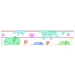 Elephant pastel pattern Flano Scarf (Small)