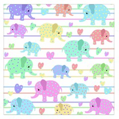 Elephant pastel pattern Large Satin Scarf (Square)