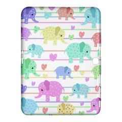 Elephant pastel pattern Samsung Galaxy Tab 4 (10.1 ) Hardshell Case