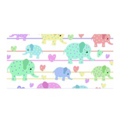 Elephant pastel pattern Satin Wrap