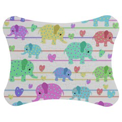 Elephant pastel pattern Jigsaw Puzzle Photo Stand (Bow)