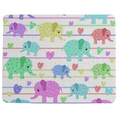Elephant pastel pattern Jigsaw Puzzle Photo Stand (Rectangular)