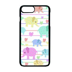 Elephant pastel pattern Apple iPhone 7 Plus Seamless Case (Black)