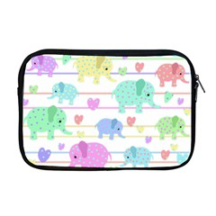 Elephant pastel pattern Apple MacBook Pro 17  Zipper Case