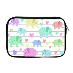 Elephant pastel pattern Apple MacBook Pro 17  Zipper Case