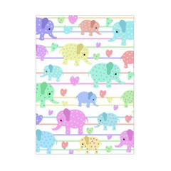Elephant pastel pattern Small Tapestry