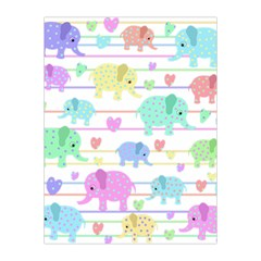 Elephant pastel pattern Medium Tapestry