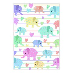 Elephant pastel pattern Large Tapestry