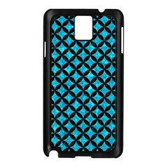 Circles3 Black Marble & Turquoise Marble (r) Samsung Galaxy Note 3 N9005 Case (black)